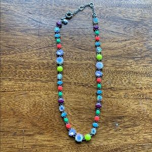 J. Crew Neon Jeweled Necklace, 4 lengths!